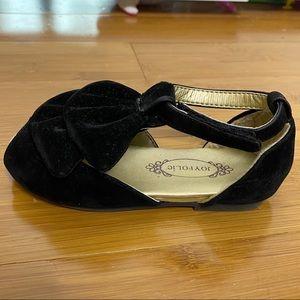 Joyfolie Amelie T-Strap Sandal black velvet 7